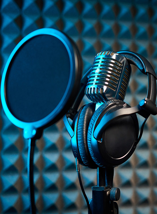 studio podcast micro casque