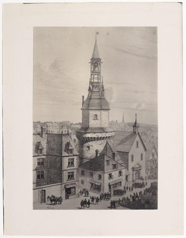 Tour de l'horloge - Dessin de Théophile Busnel