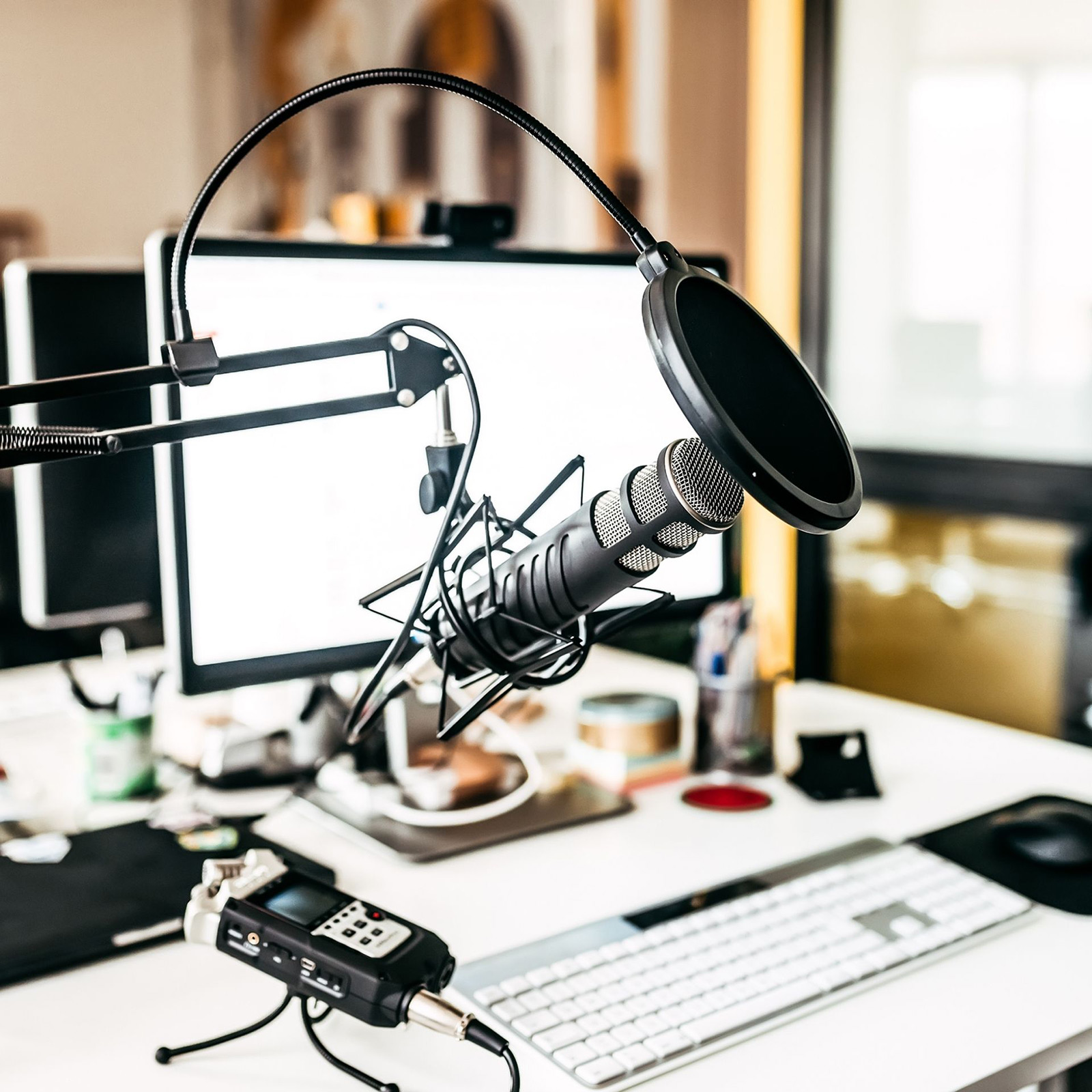 Micro d'enregistrement de voix pour studio
